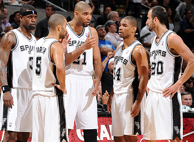 The heart of San Antonio, Duncan had 16 points and 11 boards in the Spurs' Game 1 win. (Getty Images)