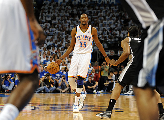 Durant has stepped up his game during the Western finals as he becomes a playmaker for OKC. (Getty Images)