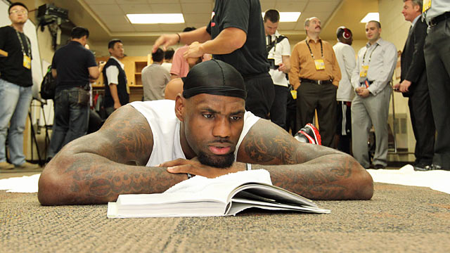 LeBron, who reads before games to slow his mind down, has a routine that works well for him. (Getty Images)