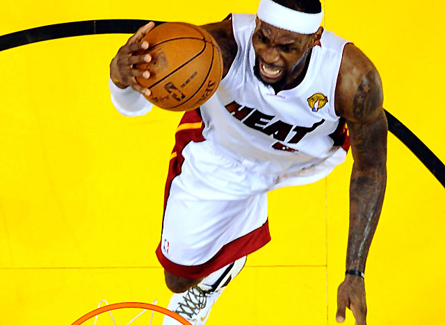 The more LBJ played from a position of strength inside the lane, the harder Miami was to beat. (Getty Images)