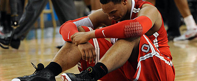 Sullinger's draft stock took a tumble after Ohio State's loss to Kansas in the Final Four. (US Presswire)