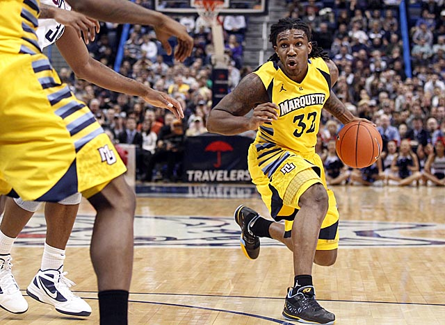 Marquette's Jae Crowder is a load, both competitive and built to be durable. (US Presswire)