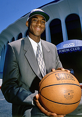The Lakers' gamble on high schooler Kobe Bryant has paid off with five titles. (Getty Images)