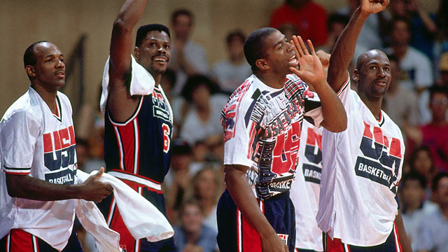 Drexler (left) on Johnson (second to right): '... I would never say such hurtful things.' (Getty Images)