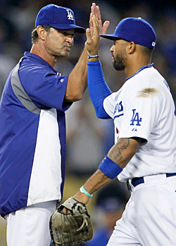 Mattingly and the Dodgers are all smiles now, but it wasn't like that last season. (Getty Images)
