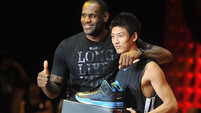 Some kids may have to settle for LeBron's older shoe due to the cost of the lastest LeBron X. (Getty Images)