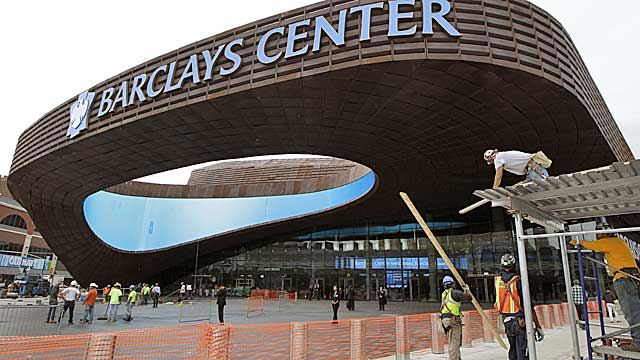 The Barclay's Center, the Nets' new home, opens Friday with a Jay-Z concert. (AP)