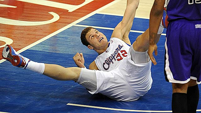 Blake Griffin and others might want to think twice next season before faking a foul. (US Presswire)