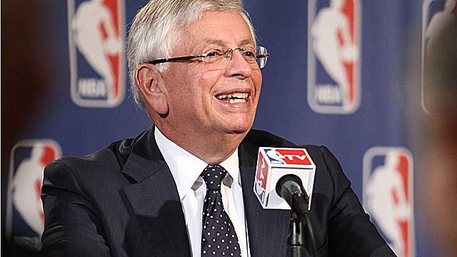 David Stern, leaving on his 30th anniversary, has been the NBA's longest-serving commish. (Getty Images)