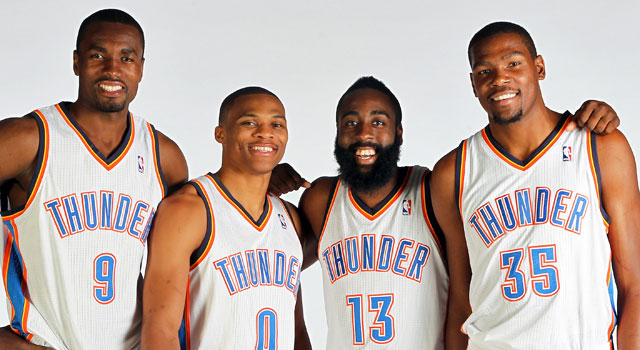 The Thunder's young core gets a big shakeup as Harden heads to Houston. (Getty Images)