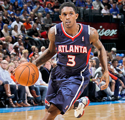 Lou Williams scores 10 of his 19 points in the fourth as the Hawks outscore the Thunder 29-21 in the final period of play. (Getty Images)