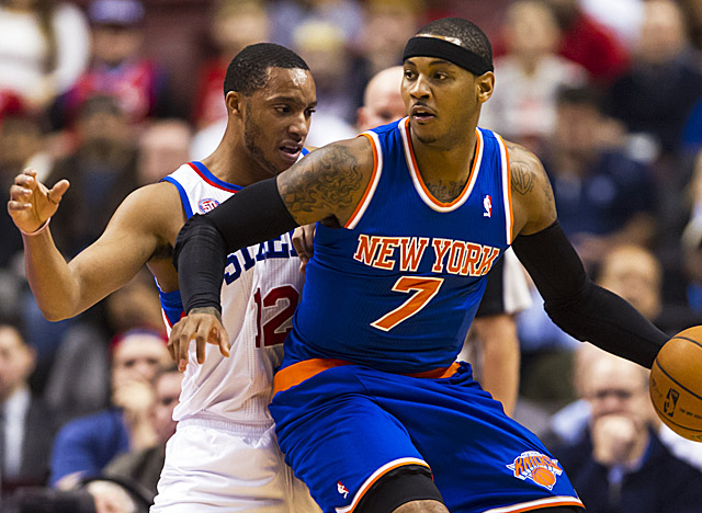Carmelo Anthony is averaging 26 points per game as his Knicks lead the East. (US Presswire)