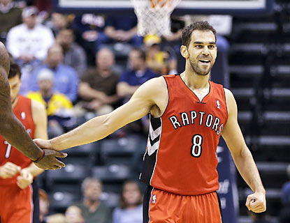 Jose Calderon finishes with 13 points, 10 rebounds and 10 assists for his first career triple-double. (AP)