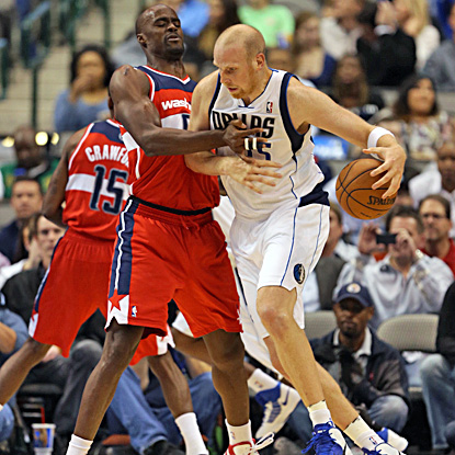 Chris Kaman scores 23 points in only his second start, leading the Mavericks to a 107-101 win over the winless Wizards. (US Presswire)