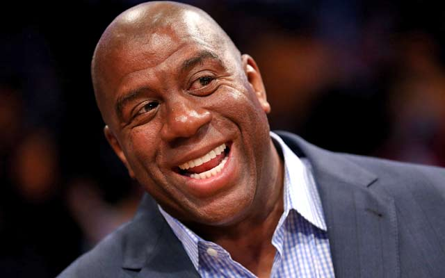 Magic Johnson has some sharp criticism for Jim Buss. (USATSI)