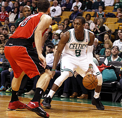 Rajon Rondo ties his season high with 20 assists in his return to the Celtics lineup. (US Presswire)