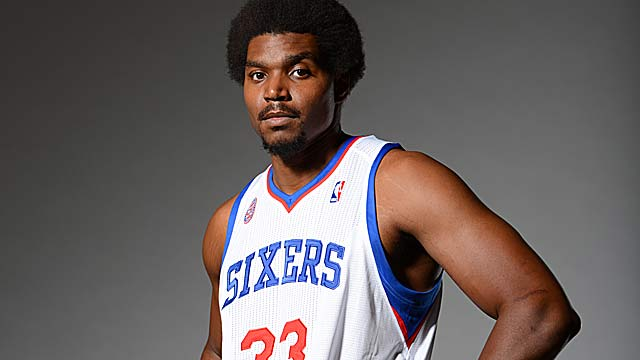 Andrew Bynum has yet to play a game for the Sixers after the huge offseason trade from LA. (Getty Images)