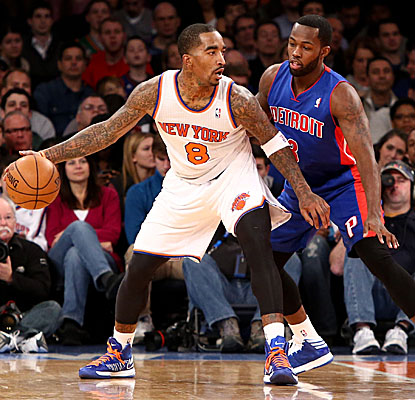 J.R. Smith comes off the bench to score 15 points and grab 10 boards for the Knicks. (US Presswire)