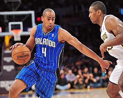 With all the pregame attention on Dwight Howard, Arron Afflalo steals the show with 30 points on 11-of-18 shooting.  (US Presswire)