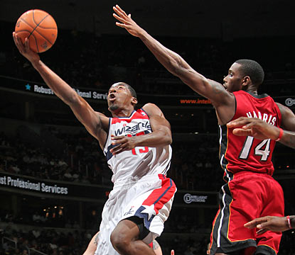 Jordan Crawford pours in 22 point as the Wizards find a way to trip the mighty Heat for the upset of the season. (Getty Images)