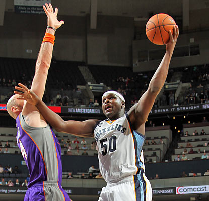 The Suns have no answer for Zach Randolph, who puts up season highs in points (38) and rebounds (22). (Getty Images)