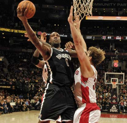 The Nets are back in the win column thanks in part to Andray Blatche, who adds 14 points and nine rebounds.  (Getty Images)