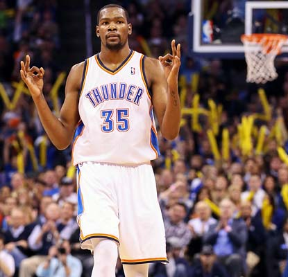 Kevin Durant and the Thunder are off to an 18-4 start, matching last season for the second-best in franchise history.  (US Presswire)
