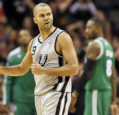 Tony Parker compiles 22 points and eight assists and the Spurs beat down the Celtics in San Antonio.  (US Presswire)