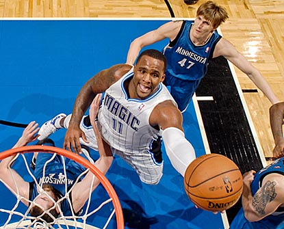 Glen Davis, who scores 28 points on 13-of-17 shooting, gets in position for a high-percentage shot here.  (Getty Images)