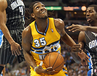 Kenneth Faried's hustle proves key for the Nuggets as he goes for 19 points and 19 rebounds against the Magic. (US Presswire)