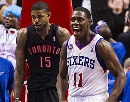Jrue Holiday scores all 12 of Philadelphia's points in overtime as the Sixers knock off Toronto. (US Presswire)