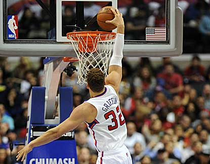 Blake Griffin elevates for a dunk in the Clippers' 94-87 win over the Wizards. (US Presswire)