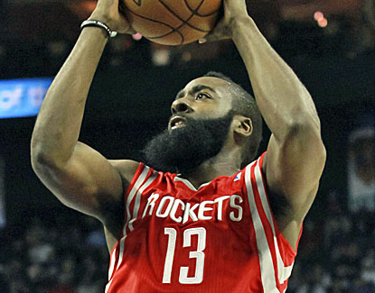 James Harden scores 29 points and hits all 10 of his free throws in the fourth quarter. (US Presswire)
