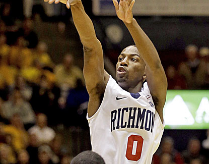 Richmond's Kendall Anthony scores 21 of his 26 points after halftime in the Spiders' win over VCU. (AP)