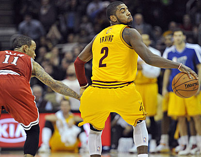 Kyrie Irving scores 16 points in the third quarter to help Cleveland get back in the game. (US Presswire)