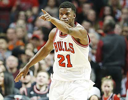 Jimmy Butler secures a double-double with 16 points and 12 boards in a win over Golden State. (AP)