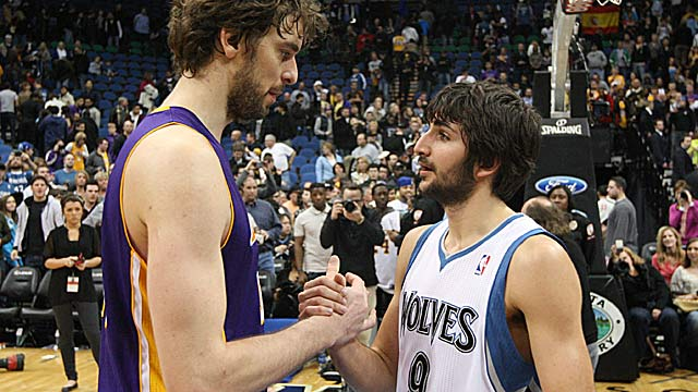 Pau Gasol's pal Ricky Rubio says if used in the right way, Pau is a top player in this league. (US Presswire)