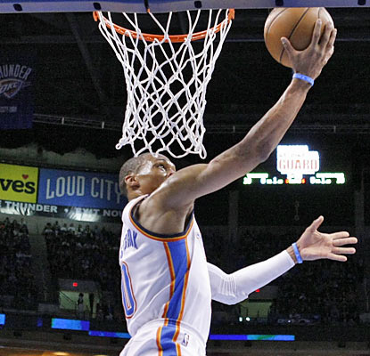 Russell Westbrook (22 points) and the Thunder win consecutive games for the first time in nearly three weeks. (AP)