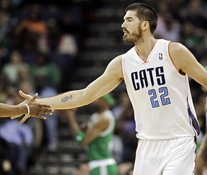 The Bobcats, owners of the NBA's worst record, ride Byron Mullens (25-18) to an upset over the Celtics. (AP)