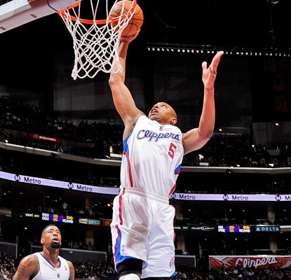 Caron Butler provides 17 of the Clippers' 46 points in the opening quarter. (Getty Images)