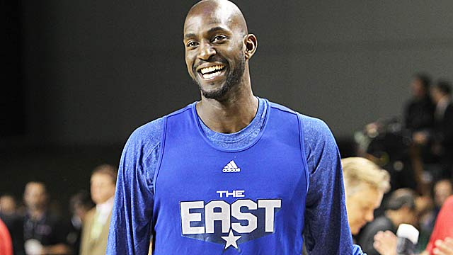 Kevin Garnett is playing in the All-Star Game for the 15th time in his 18 seasons in the NBA. (Getty Images)