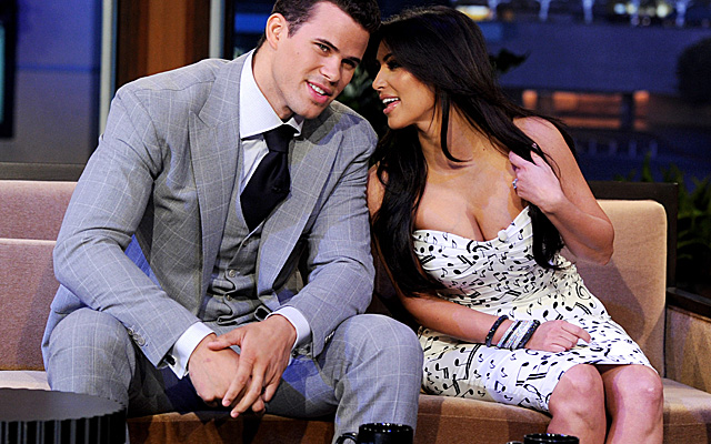 The Humphries appeared on Leno on Oct. 4, 2011. Three weeks later, Kim Kardashian filed for divorce. (Getty Images)