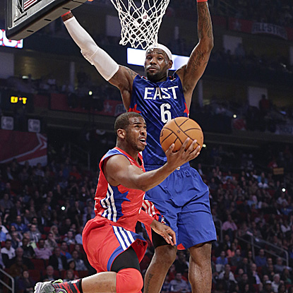 Chris Paul scores 20 points, tallies 15 assists and four steals to take home the All-Star Game MVP.  (AP)