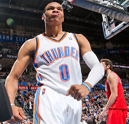 Russell Westbrook (23 points) scores more by himself than the Bulls do as a team in any quarter against the Thunder. (Getty Images)