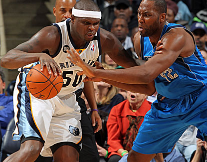 Memphis power forward Zach Randolph scores 22 points to go with 10 rebounds and 4 assists against the Mavericks. (Getty Images)