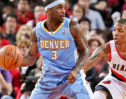 Ty Lawson scores 30 points on 12-of-22 shooting in Denver's victory. He also hands out six assists. (Getty Images)