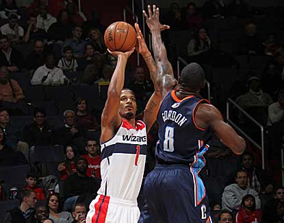Trevor Ariza torches Charlotte for 26 points as Washington wins against the Bobcats for the first time in three tries. (Getty Images)