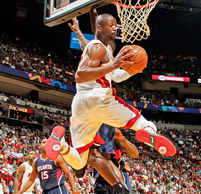 Dwyane Wade (23 points) and the Heat put on a show for Miami fans as they win another game with ease. (Getty Images)