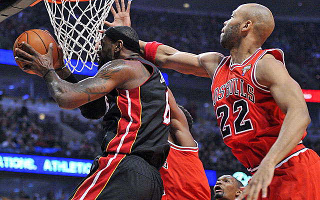 The Bulls attack LeBron James early and often. (USATSI)