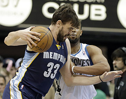 Marc Gasol scores 21 points to help Memphis pull away from Minnesota and snap a five-game road losing skid. (AP)
